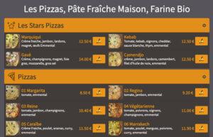 Commander vos pizzas en ligne